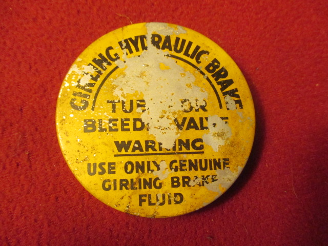 Girling Brake Bleeder Tin, Original, Jaguar Mk VII, VIII
