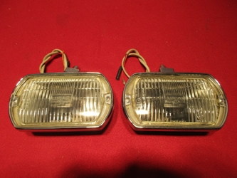 Lucas FT8 Square 8 Foglamp Pair, MGB; Shelby Mustang; Triumph TR6, ENGLAND, Original fog lamp, foglight, fog light