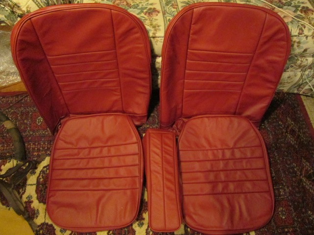 MGA Coupe Red Leather Seat Cover Set