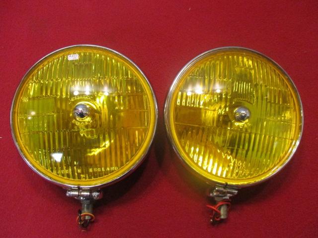 Rare Yellow Lucas Sft700s Foglamp Pair Restored Original
