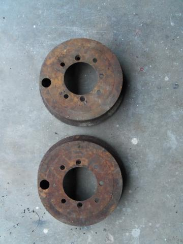 Front Brake Drum Pair, Austin-Healey Sprite/MG Midget, Original