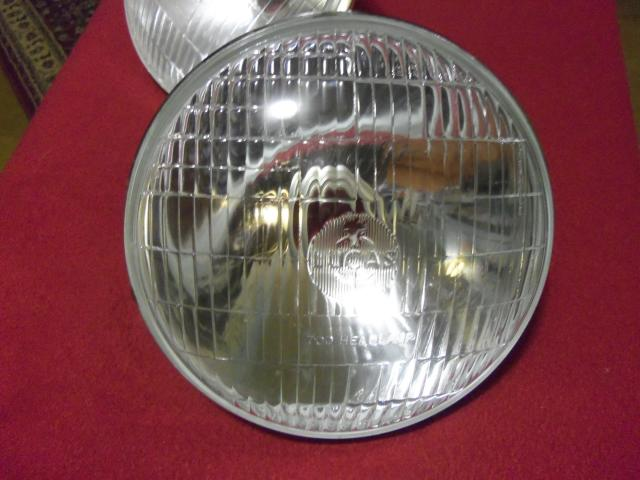 Lucas TVS 700 Bulb-type Headlamp Pair, RHD, NOS head lamp, headlight, head light