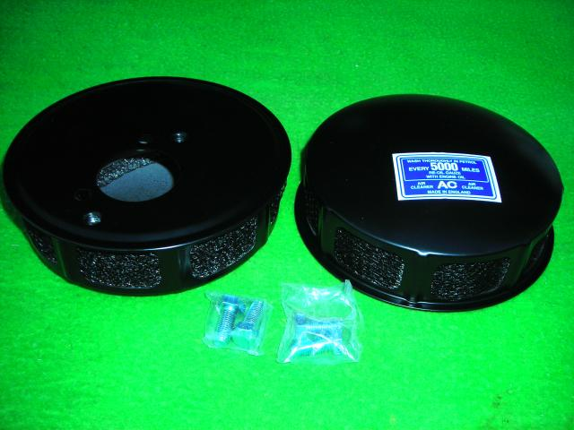 Air Cleaner Pair, Jaguar XK120, XK140; Triumph TR2, TR3, New