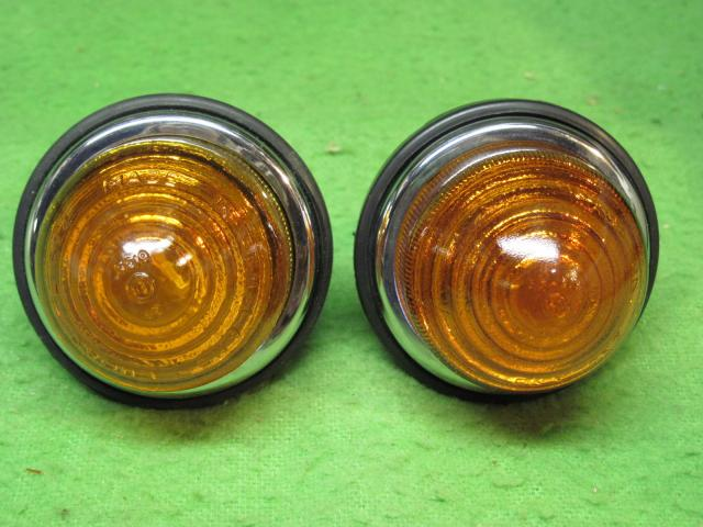 Lucas L594 Beehive Lamp Pair, amber or clear; New