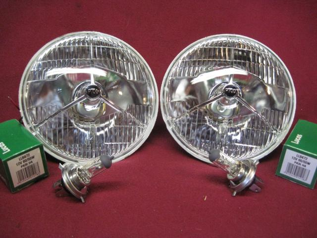 Lucas-style P700 Headlamp Pair, New head lamp, headlight, head light