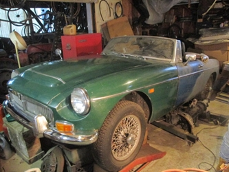 MGC Roadster, 1969, project car