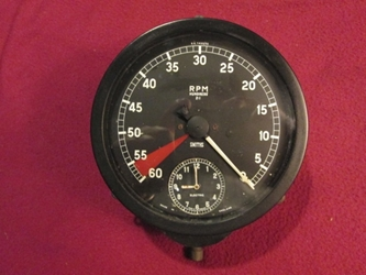 Reverse Operating Tachometer, Revolution Counter, Jaguar Mark IX, nice working condition, Original
