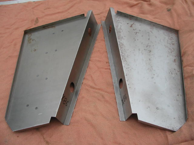 Spare Wheel Tray Sides Pair, Jaguar XK140, XK150, #X86, New