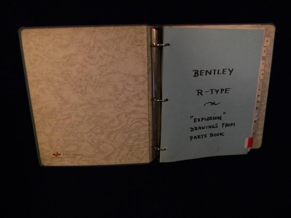 Bentley R Type Exploded Drawings Manual Rogers Motors