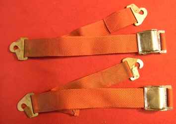 Pair Red Safeguard Seatbelts