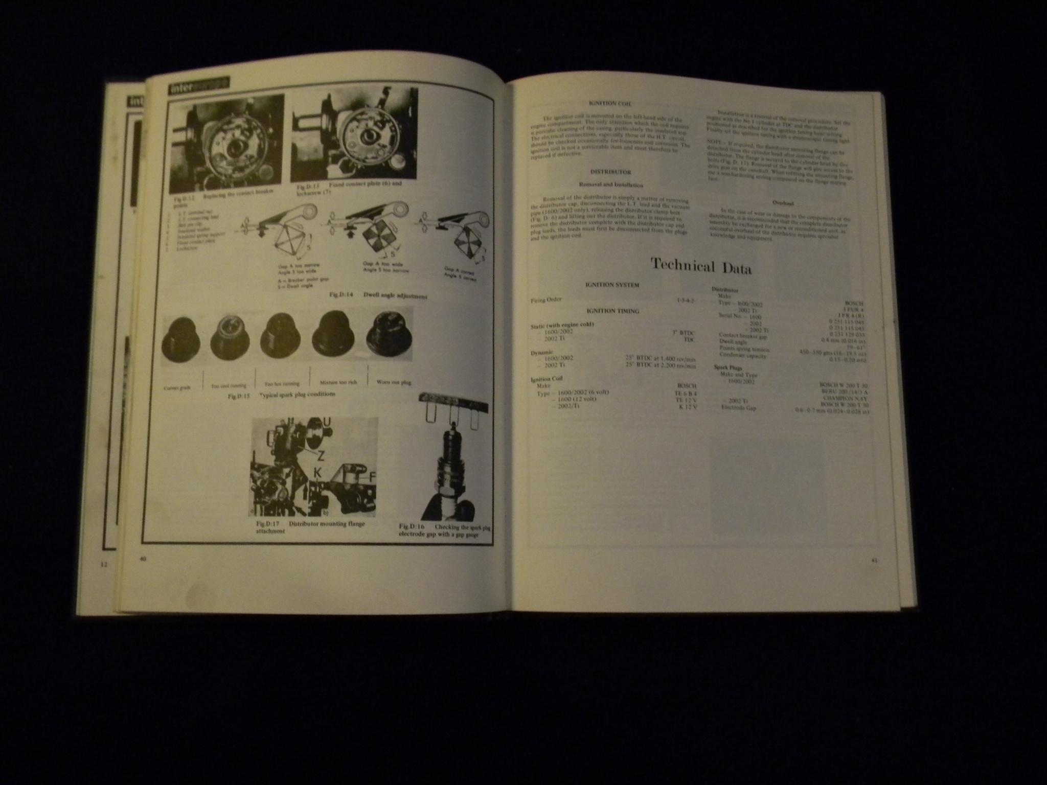 Bmw 1600  2002  Ti Workshop Manual