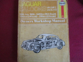 Haynes Workshop Manual, Jaguar 2.4 3.4 3.8 Mk I Mark 2 II