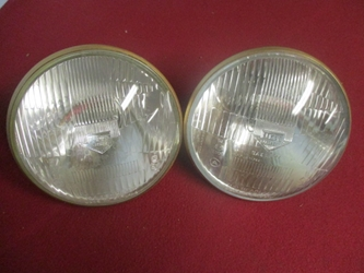 Lucas European Headlamp Pair, Original  head lamp, headlight, head light