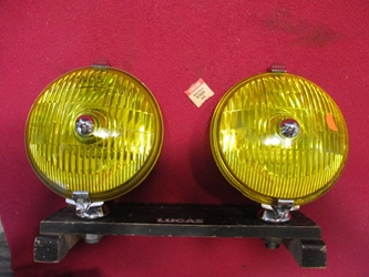 Lucas SFT576 Yellow Driving/Spotlamp Pair, NOS/Refurbished Original  driving lamp, driving light, spot lamp
