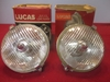 Lucas WFT576 Back-Mount Fog Lamp Pair, NOS Original driving lamp, driving light, spot lamp