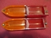 NOS Jaguar E-type Series I Red/Amber Tail Lenses - L651