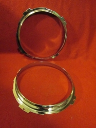 Headlamp Inner Rim Pair, Jaguar XK150, NOS head lamp, headlight, head light