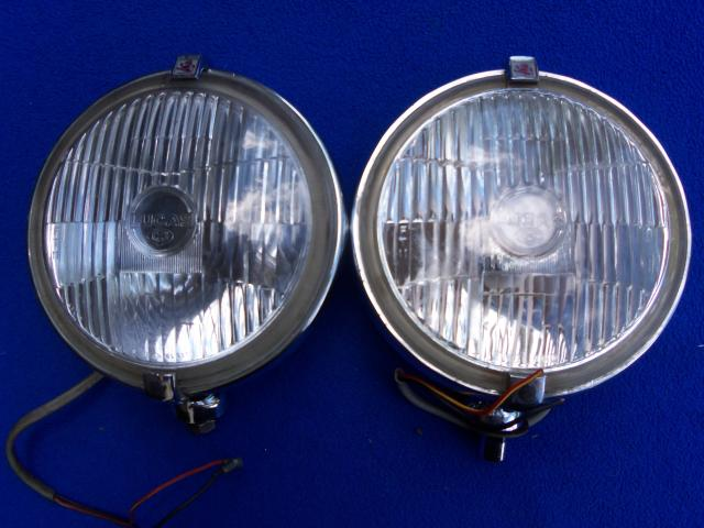 Lucas FT11 Foglamp Pair, Original fog lamp, foglight, fog light