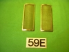 Brass Vent Screen Pair, Jaguar XK150 (Most), #X59E, New