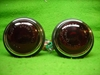 Lucas L488 Flat Glass Lamp Pair, New, with Original Lenses