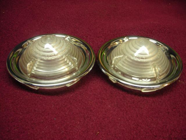 Lucas L539 Clear Lens & Rim Pair; Austin Cambridge, Riley 1.5, Rover P4; NOS