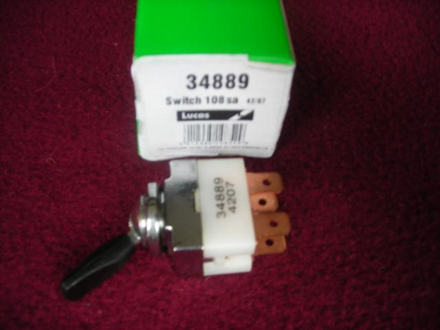 Lucas 34889 2-position Toggle Switch, double throw, New