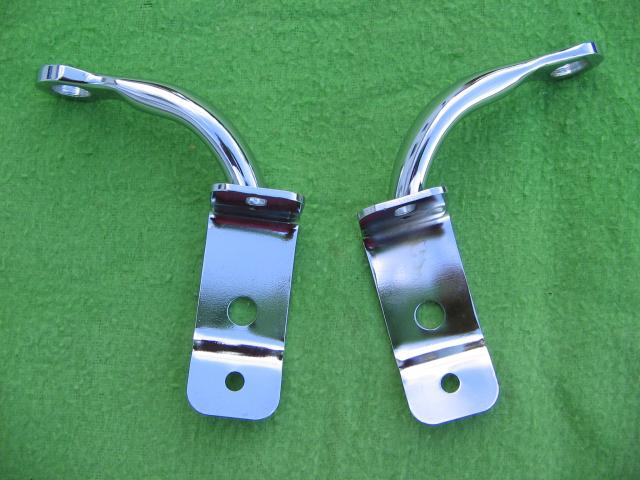 Driving/Spot/Foglamp Bracket Pair, MGA, New driving lamp, driving light, spotlamp, spot lamp, fog lamp, foglight, fog light