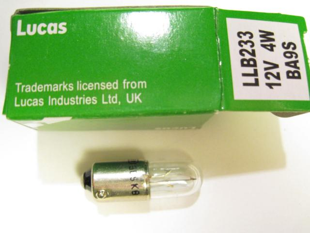 Lucas LLB233 Bayonet-base Bulb, New