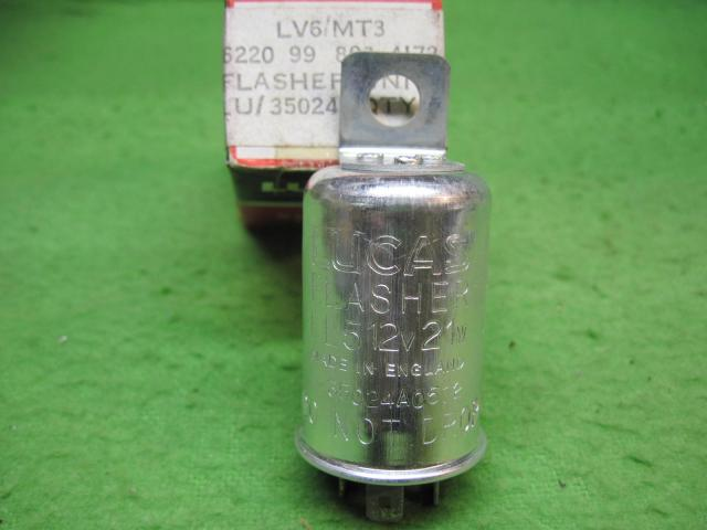 Lucas Fl5 Flasher Unit Push On Terminals Nos Rogers Motors