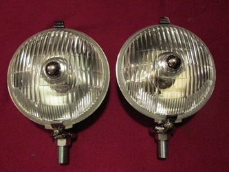 Lucas-style Tourist Trophy SFT576 Clear Fluted Foglamp Pair, New fog lamp, foglight, fog light