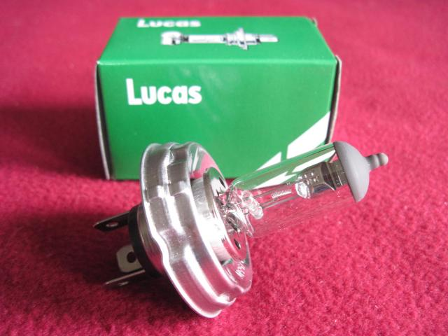 Lucas LLB012 H4 P45t-base Halogen Headlamp Bulb, New head lamp, headlight, head light
