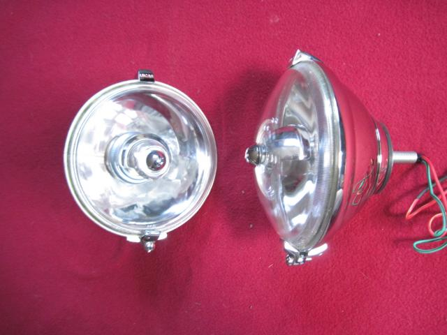 Lucas-style Tourist Trophy WLR576 Backmount Driving/Spotlamp Pair, New driving lamp, driving light, spot lamp