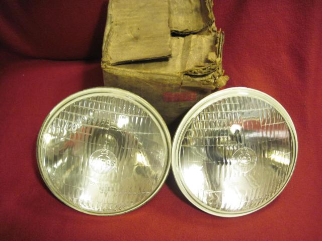 Lucas 700 Headlamp Pair, LHD or RHD, NOS head lamp, headlight, head light