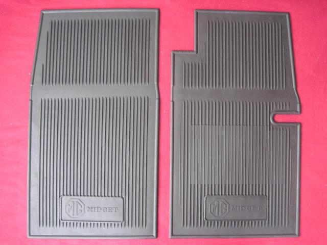 AMCO Rubber Floor Mat Pair, MG Midget, New