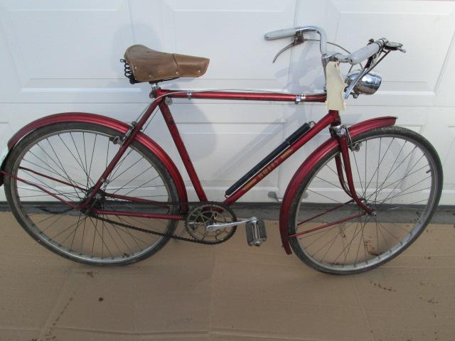 Huffy Sportsman 3-speed Bicycle, 1955, Original - Rogers Motors