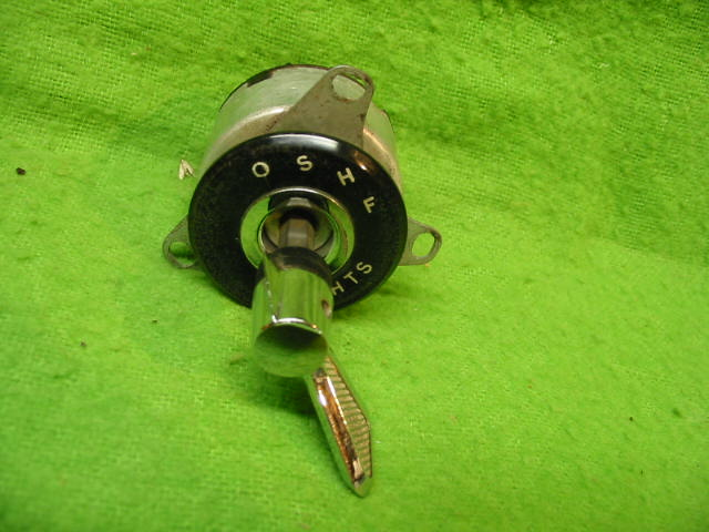 Headlamp Switch, 4-position, Jaguar Mark 2, Original head lamp, headlight, head light, fog lamp, foglight, fog light