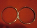 Lucas Inner Headlamp Rim Pair, 1960s-80s, Original - RM00733