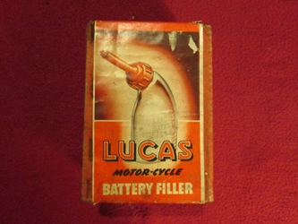 Lucas Motorcycle Battery Filler, NOS