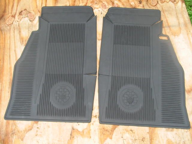 AMCO Rubber Floor Mat Pair, Jaguar XKE, early or late, New E-Type floor mats; E-type floormats; E-type mats; XKE floormats; XKE floor mats