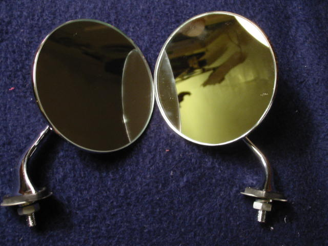 Lucas Style Fender Mirror Pair New Rogers Motors