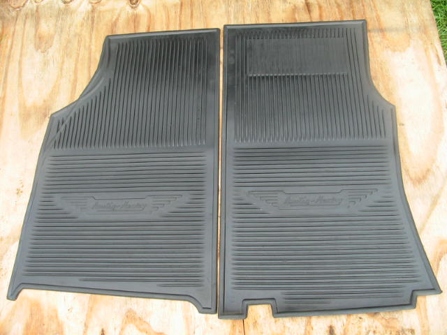 AMCO Rubber Floor Mat Pair, Austin-Healey 100, 3000, New Austin Healey Floor Mats; Austin Healey Floormats; Austin-Healey floormats