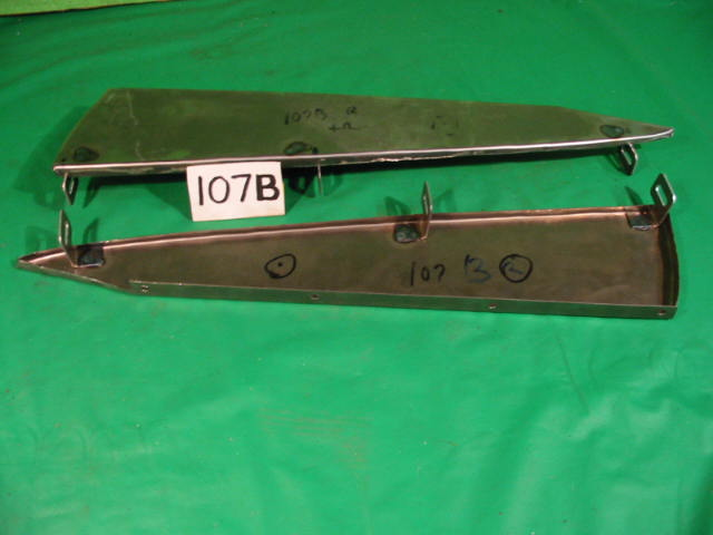 Front Bumper Plinth Pair, Jaguar XK140, #X107B, New