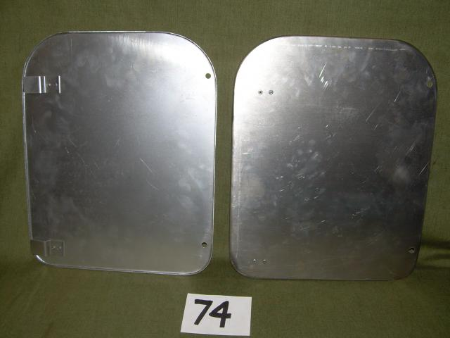Battery Box Door Pair, Jaguar XK140 FHC, XK150, #X74, New