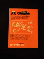 Mercedes 220 1959-1965 Workshop Manual